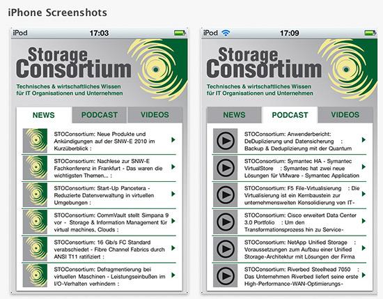 Storage Consortium iPhone App